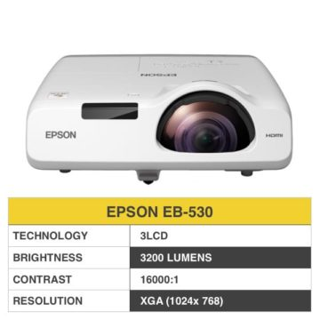 Epson EB-530 Projector (Short Throw)