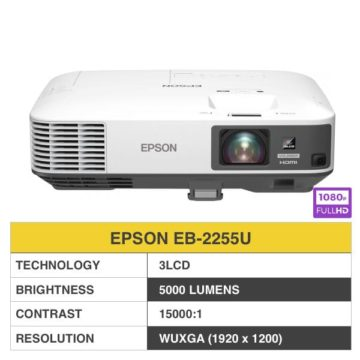 EPSON EB-2255U Full HD Wireless Projector WUXGA 5000 LUMENS