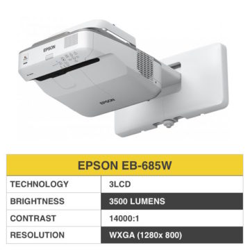 EPSON EB-685W Ultra Short-throw Projector