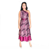 Handmade Premium Silk Double-Layer Wrap Dress (Purple)