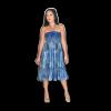Ruffle Tube Dress Blue